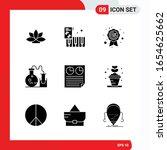 creative set of 9 universal... | Shutterstock .eps vector #1654625662