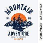 mountain illustration  outdoor... | Shutterstock .eps vector #1654625965