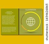 world vector icon design 10 eps ... | Shutterstock .eps vector #1654626865