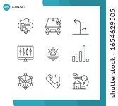 vector pack of 9 outline... | Shutterstock .eps vector #1654629505