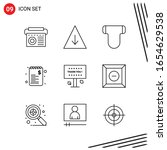 collection of 9 vector icons in ... | Shutterstock .eps vector #1654629538