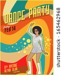 Retro Dance Party Poster....