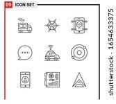 9 general icons for website... | Shutterstock .eps vector #1654633375