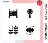 vector pack of 4 icons in solid ... | Shutterstock .eps vector #1654637032