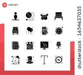 pack of 16 universal glyph... | Shutterstock .eps vector #1654637035