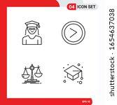 creative set of 4 universal... | Shutterstock .eps vector #1654637038