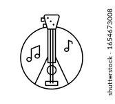 balalaika in circle icon....