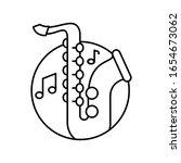 saxophone in circle icon....