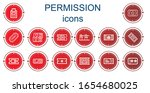 editable 14 permission icons... | Shutterstock .eps vector #1654680025