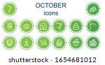 editable 14 october icons for...   Shutterstock .eps vector #1654681012