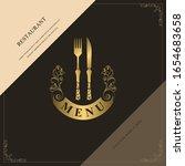 luxury restaurant menu logo... | Shutterstock .eps vector #1654683658
