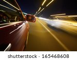 an image of a man driving a car ... | Shutterstock . vector #165468608