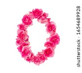 Number 0 Made Of Roses On A...