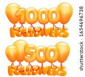 1000 followers concept card... | Shutterstock .eps vector #1654696738