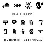 death icon set. 14 filled death ... | Shutterstock .eps vector #1654700272