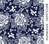 beautiful bohemian floral... | Shutterstock .eps vector #1654711108