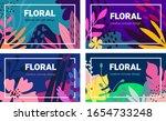 vector set of beautiful... | Shutterstock .eps vector #1654733248