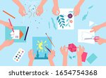 kids creative lab. children... | Shutterstock .eps vector #1654754368