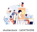 sculptors and artists. creative ... | Shutterstock .eps vector #1654754398