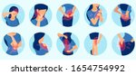 vector set of a woman with body ... | Shutterstock .eps vector #1654754992