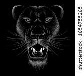 the vector logo lion for tattoo ...   Shutterstock .eps vector #1654755265