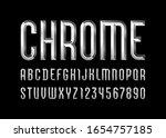 Chrome Alphabet From Chiseled...