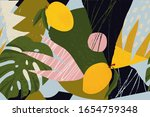 collage contemporary floral... | Shutterstock .eps vector #1654759348