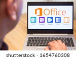 Office 365 Is Used By A Man On...