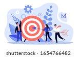 businesspeople driving arrow to ...   Shutterstock .eps vector #1654766482