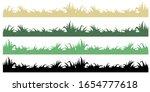 set green and black grass... | Shutterstock . vector #1654777618
