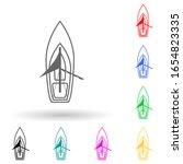 sailing ship multi color style...