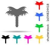 palm multi color style icon....