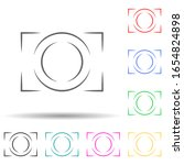 logo camera multi color style...