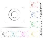 camera focus logo multi color...