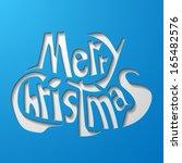 merry christmas | Shutterstock .eps vector #165482576