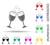 glasses clink glasses multi...