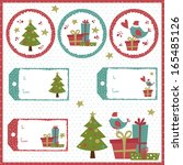 a set of christmas vintage tags | Shutterstock .eps vector #165485126