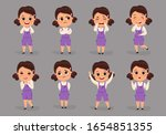 set of different emotions...   Shutterstock .eps vector #1654851355