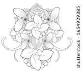 coloring page.hand drawn sketch ... | Shutterstock .eps vector #1654929385