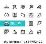 politics vector line icons.... | Shutterstock .eps vector #1654952422