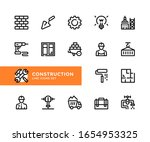 construction vector line icons. ... | Shutterstock .eps vector #1654953325