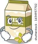 cool pistachio milk mascot... | Shutterstock .eps vector #1654957702