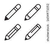 pencil icon set. vector graphic ...