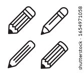pencil icon set. vector graphic ...