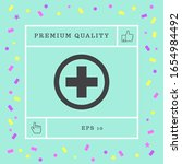 medical cross icon. graphic... | Shutterstock .eps vector #1654984492
