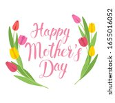 mother's day greeting card.... | Shutterstock .eps vector #1655016052