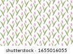 pink tulips on a white... | Shutterstock .eps vector #1655016055