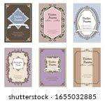 gorgeous vintage antique... | Shutterstock .eps vector #1655032885