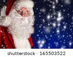 portrait of a traditional santa ... | Shutterstock . vector #165503522