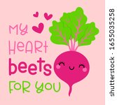 cute beetroot with pun quote ... | Shutterstock .eps vector #1655035258